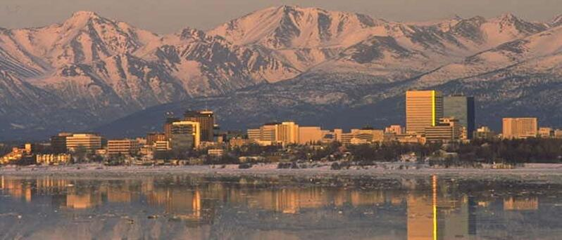 {Anchorage in winter}